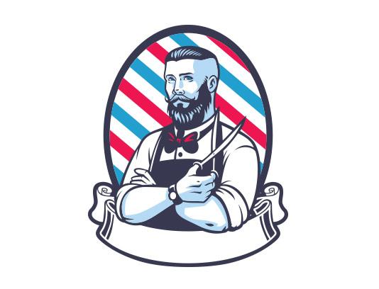 وکتور لوگو آرایشگاه مردانه انتزاعی