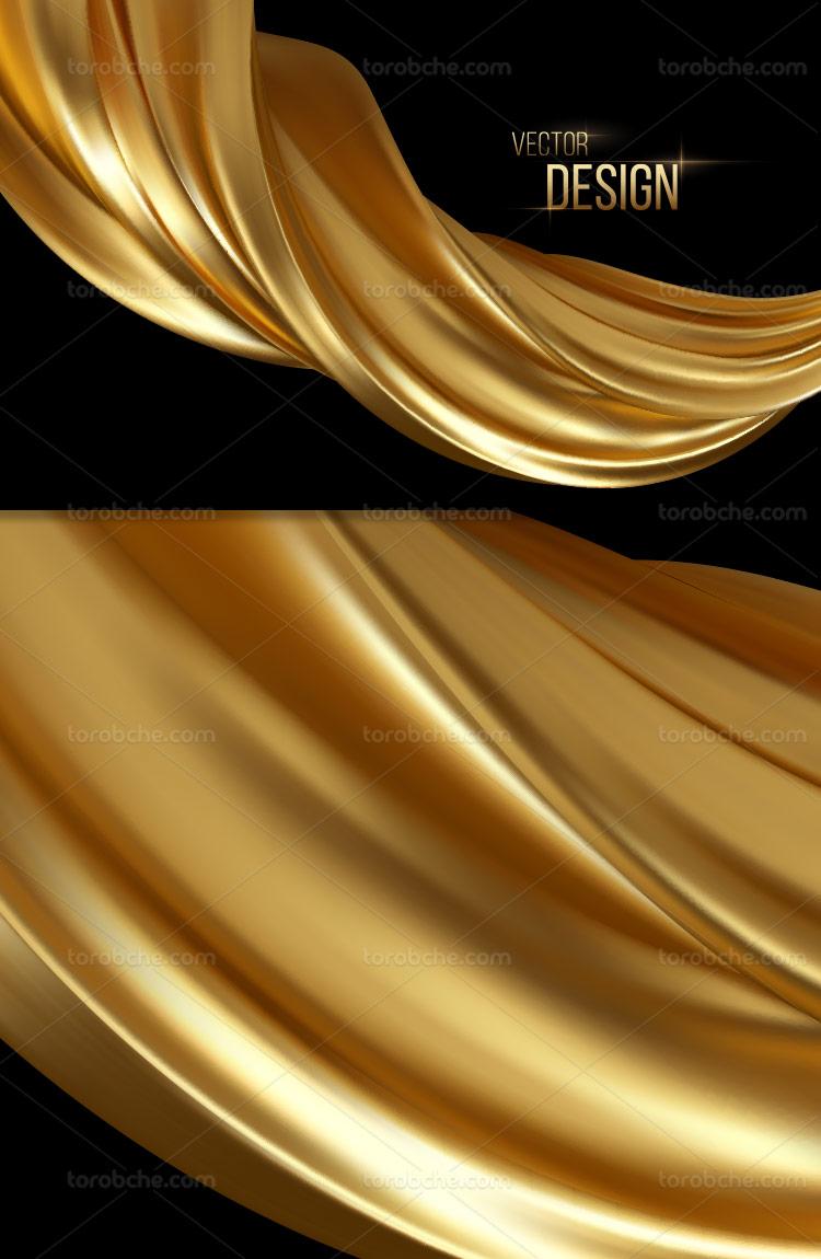 وکتور زمینه و بک گراند طلایی