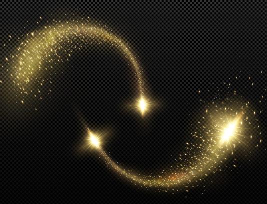 وکتور افکت نور طلایی رنگ