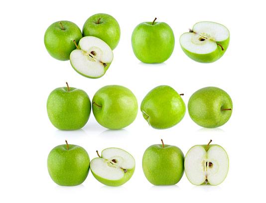 عکس سیب سبز برش خورده