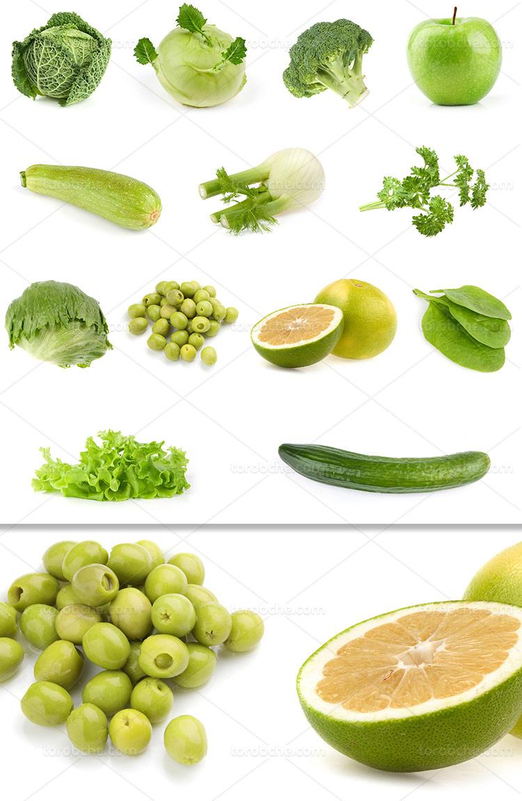 عکس میوه های سبز با کیفیت