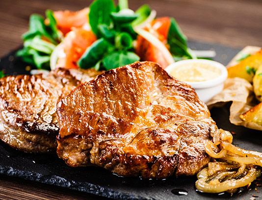 عکس استیک گوشت با سبزیجات
