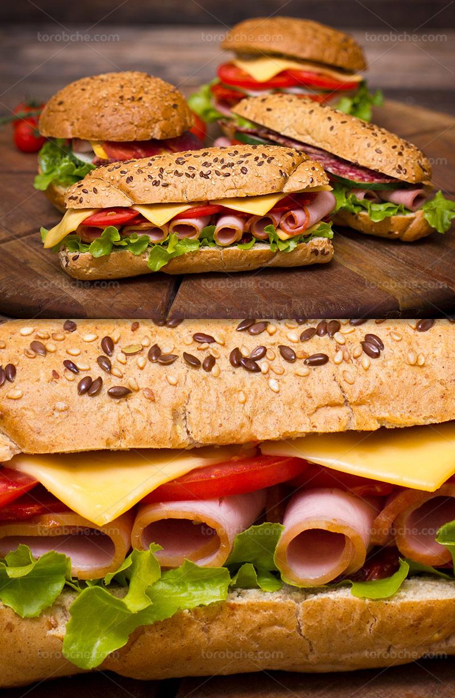 عکس ساندویچ ژامبون