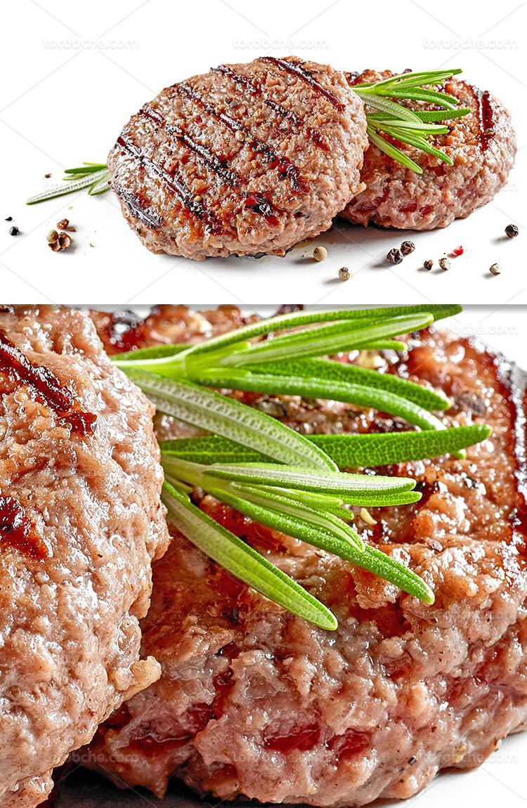 عکس گوشت همبرگر