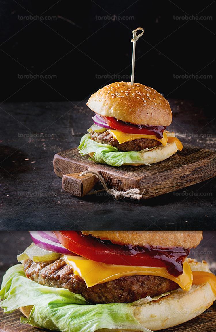عکس همبرگر مخصوص با کیفیت