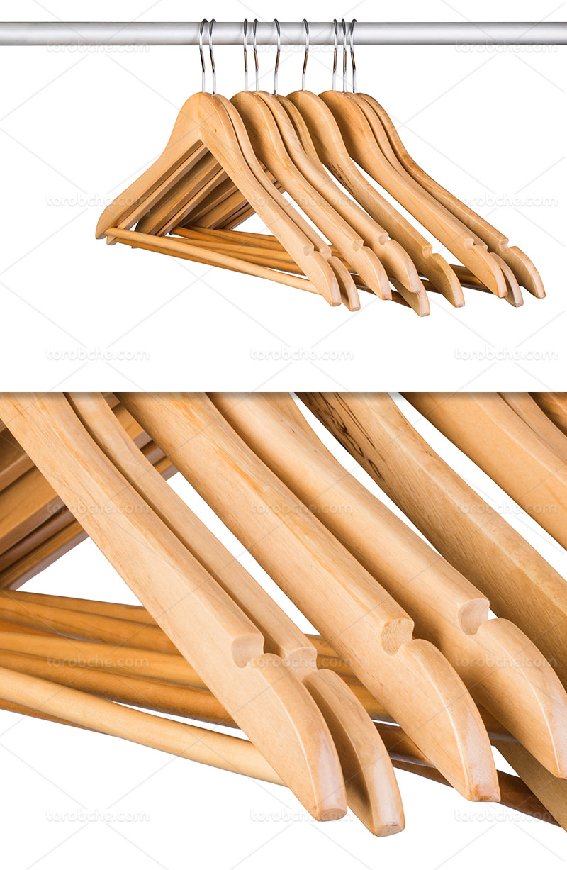 عکس آویز لباس چوبی