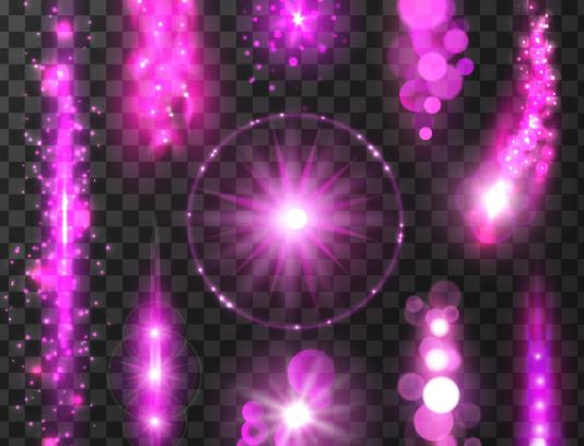 وکتور افکت نور های بنفش
