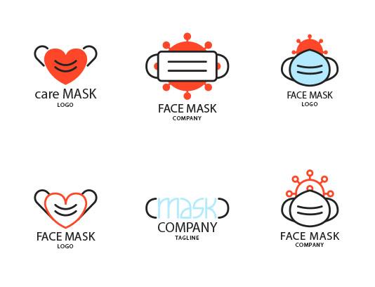 وکتور لوگوی ماسک با کیفیت