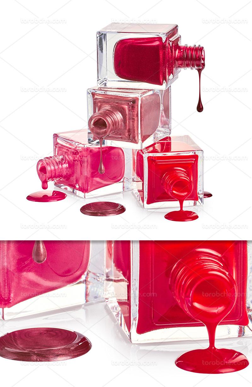 عکس با کیفیت لاک ناخن رنگارنگ