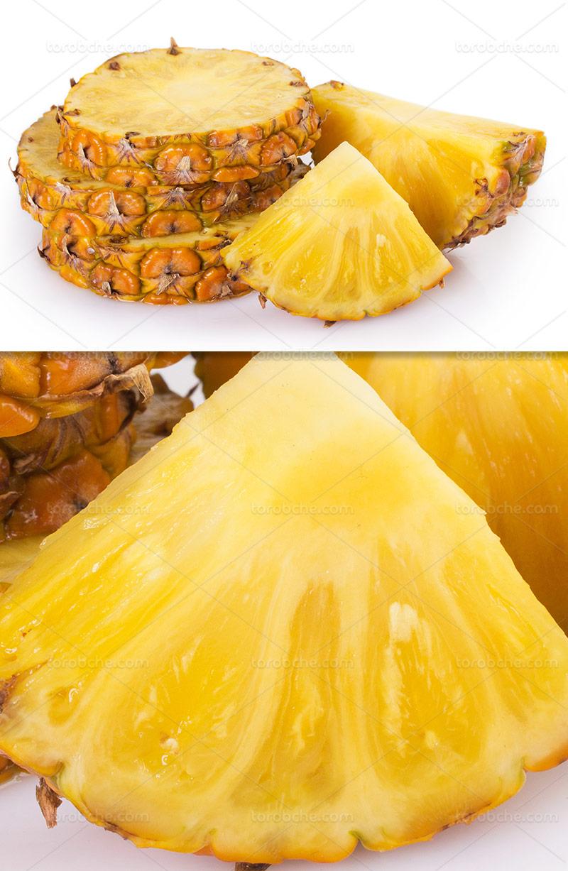 عکس آناناس برش خورده تازه