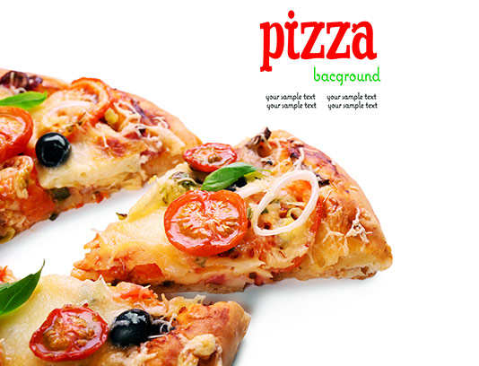 عکس پیتزا سبزیجات تازه