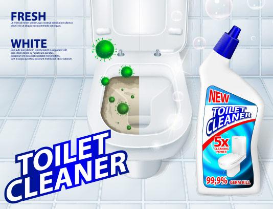 وکتور تمیز کننده توالت تبلیغاتی