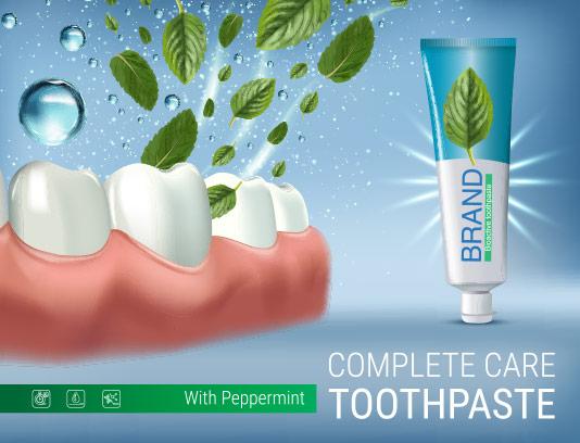 وکتور طرح تبلیغاتی خمیر دندان