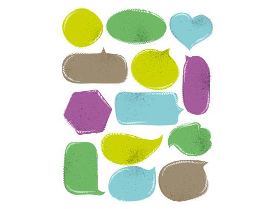 وکتور انواع کادر رنگی