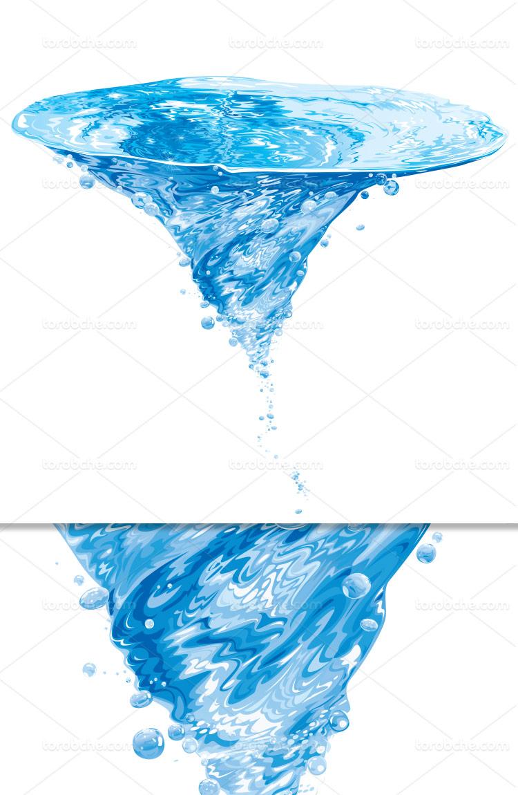 وکتور اسپلش آب با کیفیت بالا