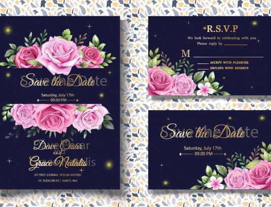 وکتور کارت عروسی