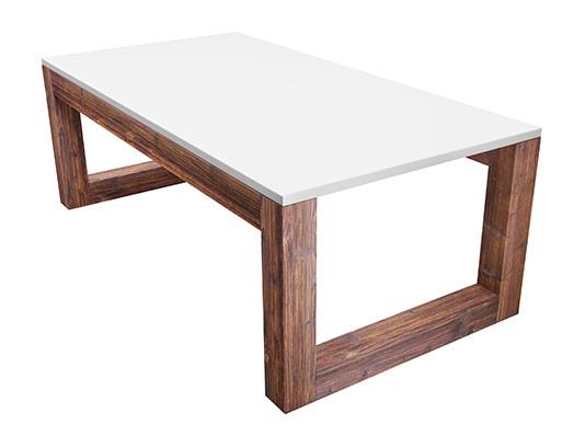عکس میز چوبی سفید
