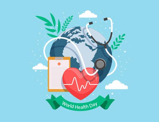 وکتور روز جهانی سلامت خلاقانه