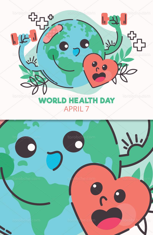 وکتور روز جهانی سلامت