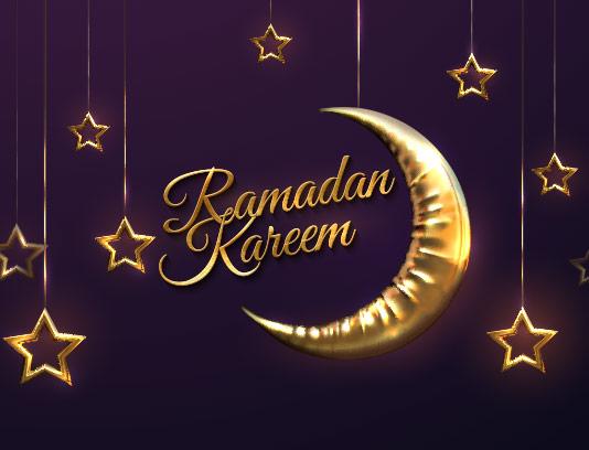 وکتور پس زمینه ماه رمضان انتزاعی