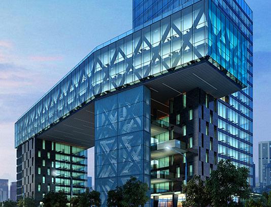 عکس ساختمان شیشه ای