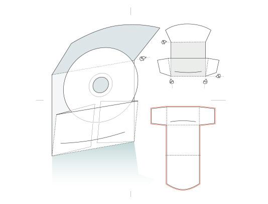 وکتور طرح گسترده جعبه سی دی