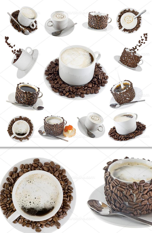 عکس قهوه و شیر خلاقانه