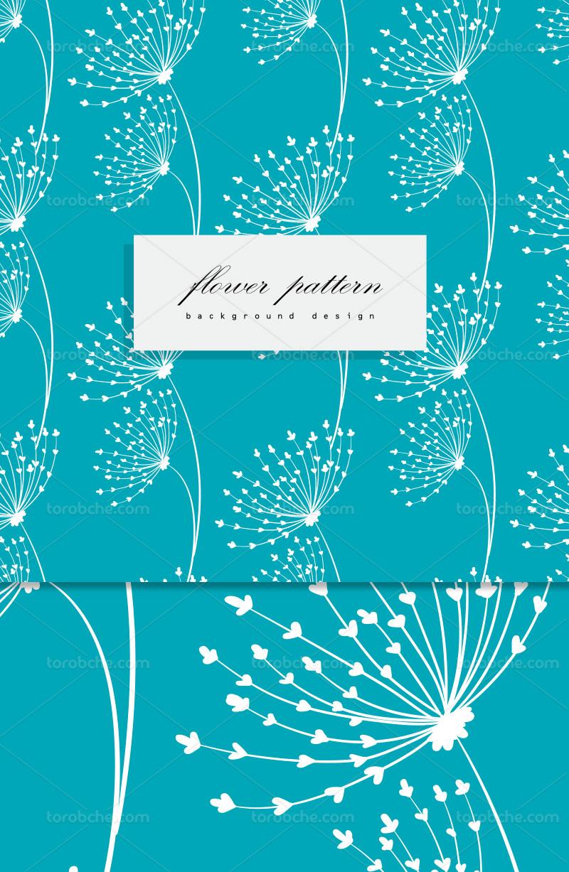 وکتور پترن گل آبی انتزاعی