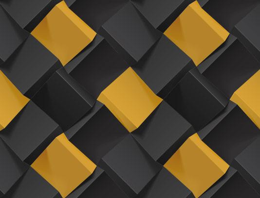 وکتور زمینه سه بعدی طلایی مشکی
