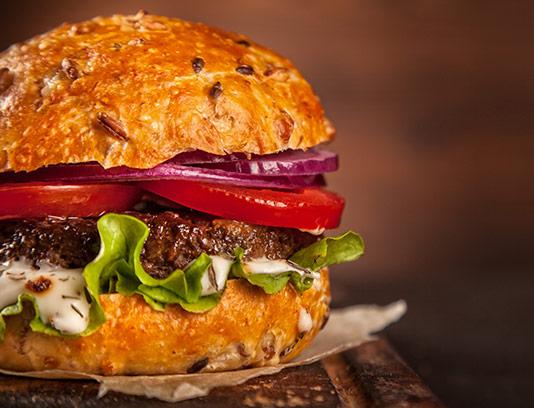 عکس همبرگر تازه با کیفیت