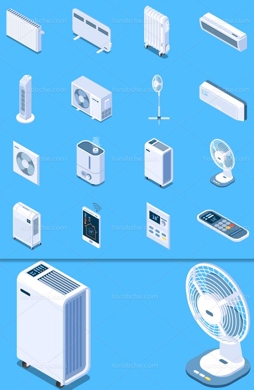 وکتور سیستم گرمایشی و سرمایشی