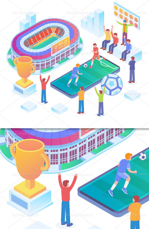 وکتور ایزومتریک جام جهانی