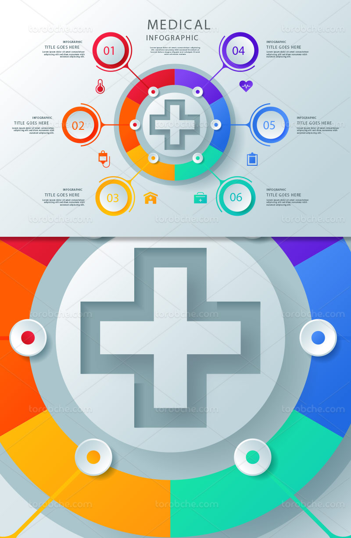 وکتور اینفوگرافیک پزشکی