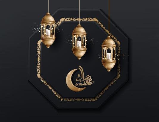 وکتور بک گراند ماه مبارک رمضان