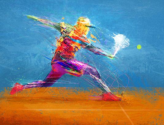 عکس تنیس بازی با کیفیت