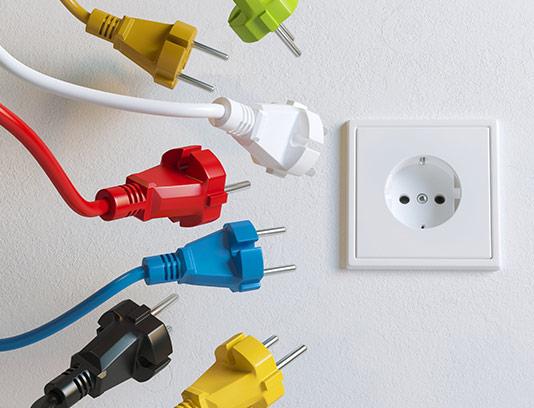 عکس کابل و پریز برق