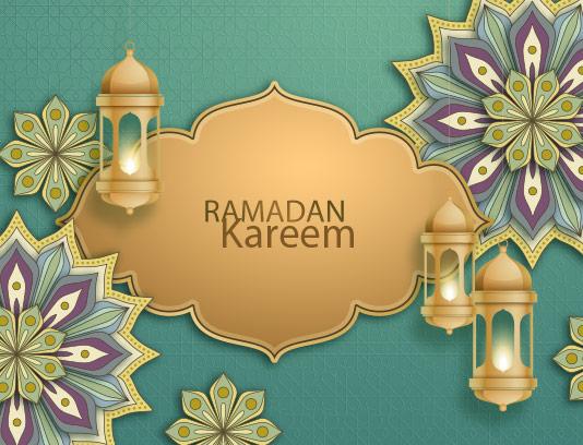 وکتور بکگراند ماه مبارک رمضان