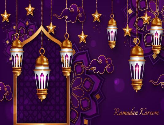 وکتور پس زمینه ماه رمضان کریم