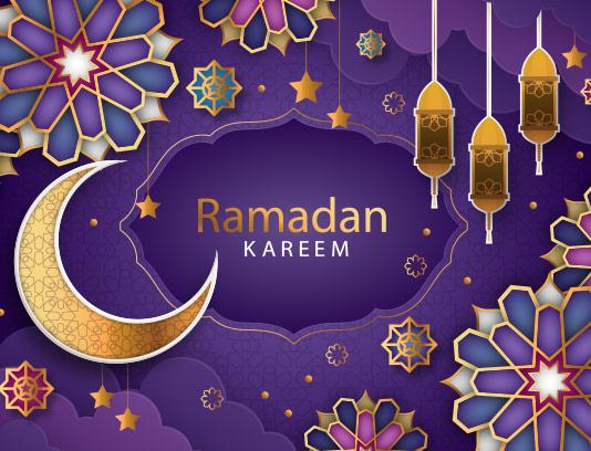 وکتور زمینه رمضان کریم انتزاعی