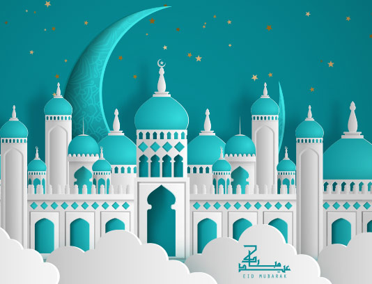 وکتور زمینه رمضان کریم