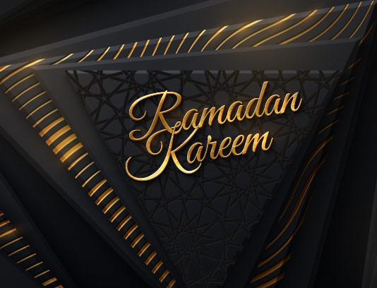 وکتور پس زمینه رمضان مشکی