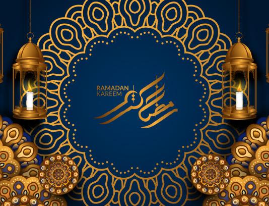 وکتور بکگراند ماه رمضان