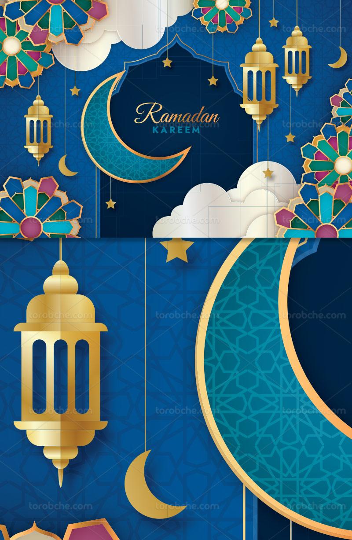 وکتور بکگراند ماه رمضان خلاقانه