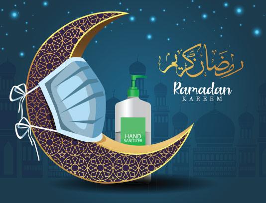وکتور بک گراند ماه رمضان