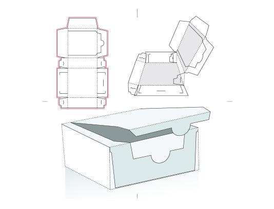وکتور طرح گسترده جعبه مستطیل