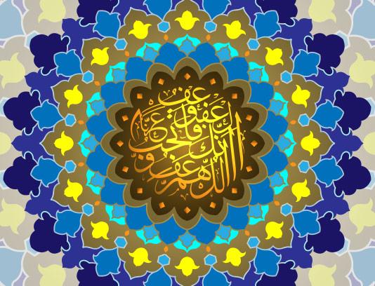 وکتور بک گراند سنتی ماه مبارک رمضان