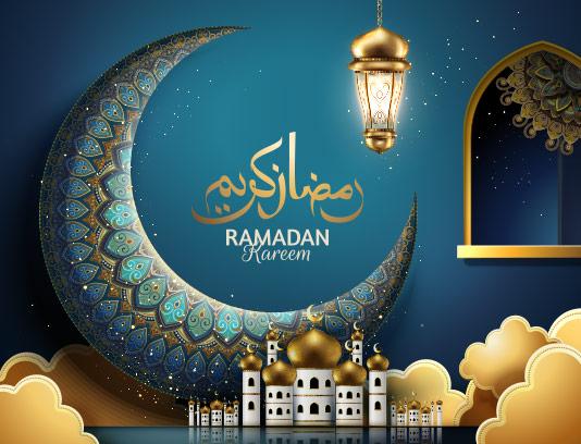 وکتور پس زمینه سنتی رمضان کریم