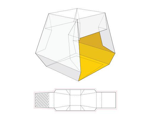 وکتور طرح گسترده جعبه چند ضلعی