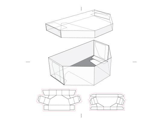 وکتور طرح گسترده باکس شش ضلعی