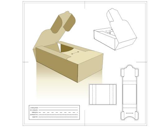 وکتور طرح گسترده جعبه مقوایی